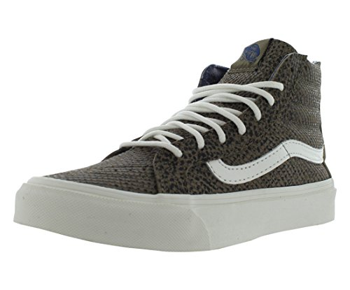 Vans Unisex Sk8-Hi Slim Zip Black/Tan Sneaker - ()