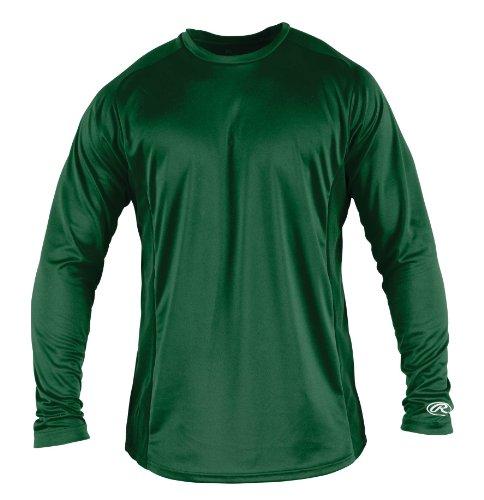 Rawlings Men's Long Sleeve Baselayer Shirt, Dark Green, X-Large ()