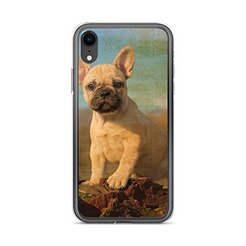 iPhone XR Case Anti-Scratch Creature Animal Transparent Cases Cover Cute French Bulldog Puppy Vintage Look A Faithfully F Animals Fauna Crystal Clear