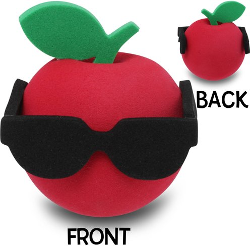 [해외]Coolballs 선글라스로 멋진 애플 자동차 안테나 토퍼/Coolballs Cool Apple with Sunglasses Car Antenna Topper