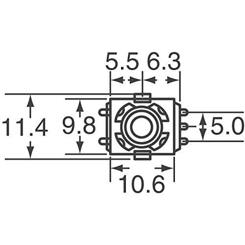 ROTARY ENCODER MECHANICAL 20PPR, (Pack of 10) (290VAB0R201B2)
