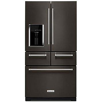 refrigerator amazon. kitchen aid krmf706ebs 25.8 cu. ft. black stainless platinum interior french door refrigerator amazon o