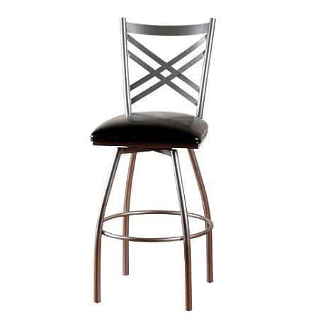 Enjoyable American Heritage Billiards Alexander Counter Height Stool Silver Short Links Chair Design For Home Short Linksinfo