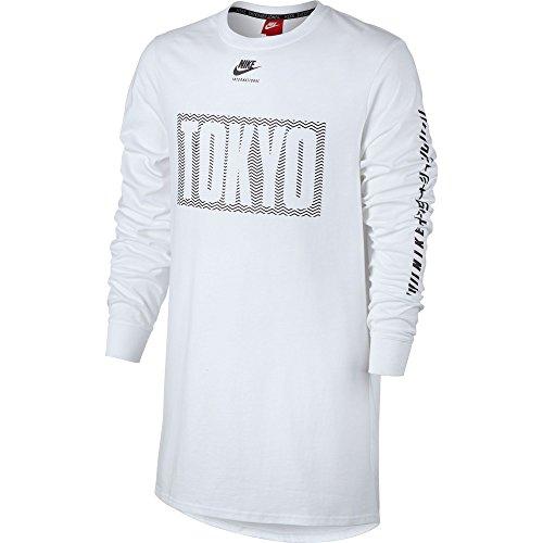 Nike Tokyo International Men's Longsleeve T-Shirt White/Black 831141-100 (Size L)