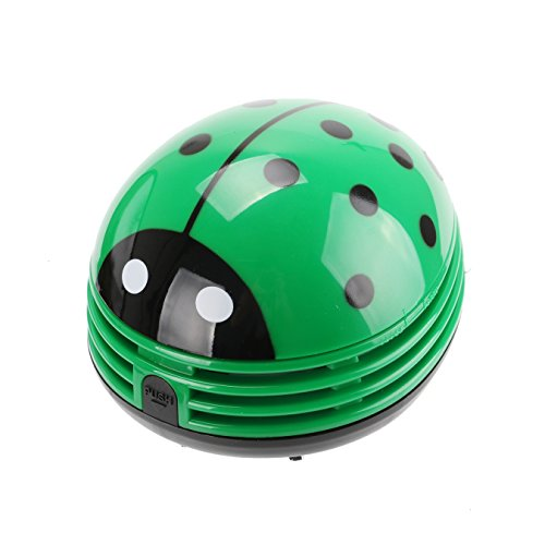 VOYEE Cute Portable Beetle Ladybug Cartoon Mini Desktop Vacuum Desk Dust Cleaner Green by VOYEE (Image #5)'