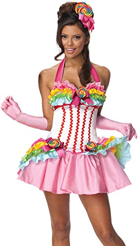 Secret Wishes Womens Lollipop Costume, Multicolor,