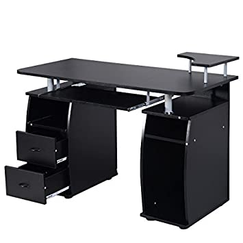 Amazoncom Tangkula Computer Desk Work Station Home Office