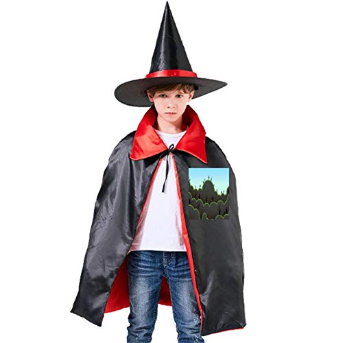 One of my Illustration Painting Scenery Halloween Shawl and Witch Hat for Children Kids Red]()