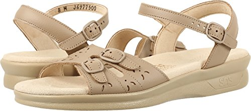 Natural Duo - SAS Women's Duo Natural Leather Sandal Size 5 Wide