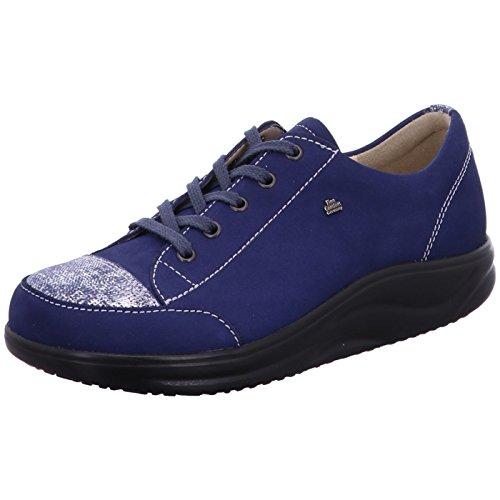 Azul Cordones para de Comfort Mujer de Zapatos Finn Piel 1nqfwRxC