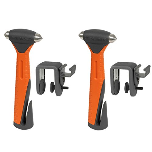 Lifehammer Safety Hammer Plus - Emergency Escape and Rescue Hammer with Seatbelt Cutter - 2 Pack