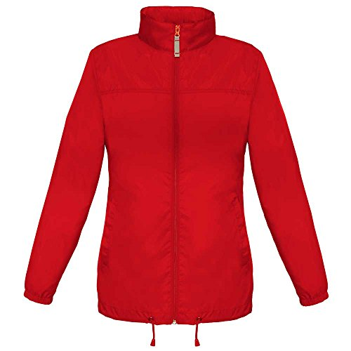 B&C Ladies Sirocco The Windbreaker showerproof foldaway Coat Orange