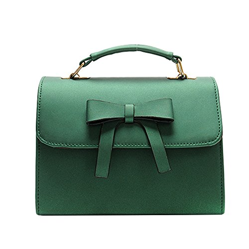 Women Bag,Kauneus Women Bag Bowknot Pure Color Messenger Bags Shoulder Bag 2017 (22918cm, Green) ()