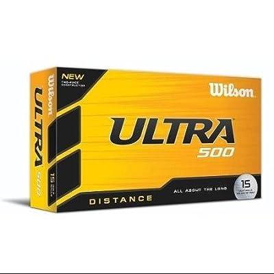 Wilson Ultra 500 Distance Golf Ball (15-Pack) White WLM