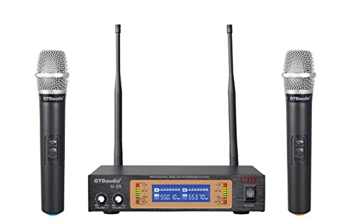 Price comparison product image GTD Audio U-35H UHF Wireless Microphone System with 2 microphones