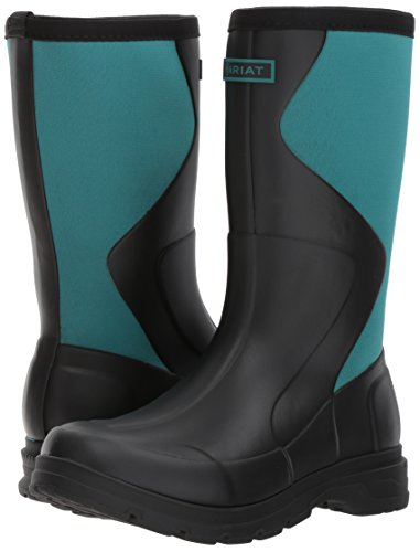 Black Black Teal Womens Boot Springfield Ariat Rubber Dusty a0xqCYUIw