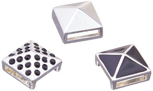 Darice 1999-6500 3Pc Metal Enamel Rhinestone Studs Mix - Studs Enamel Metal