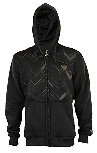 (NBA Men's Signature Black and Gold Full Zip Hoodie - Several Team Options (Chicago Bulls, Small))