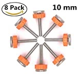 8 Pack Walk Thru Gates Accessory Screw Mounted Bolts Kit Pressure Mounted Baby Gates Threaded Spindle Rods 10MM