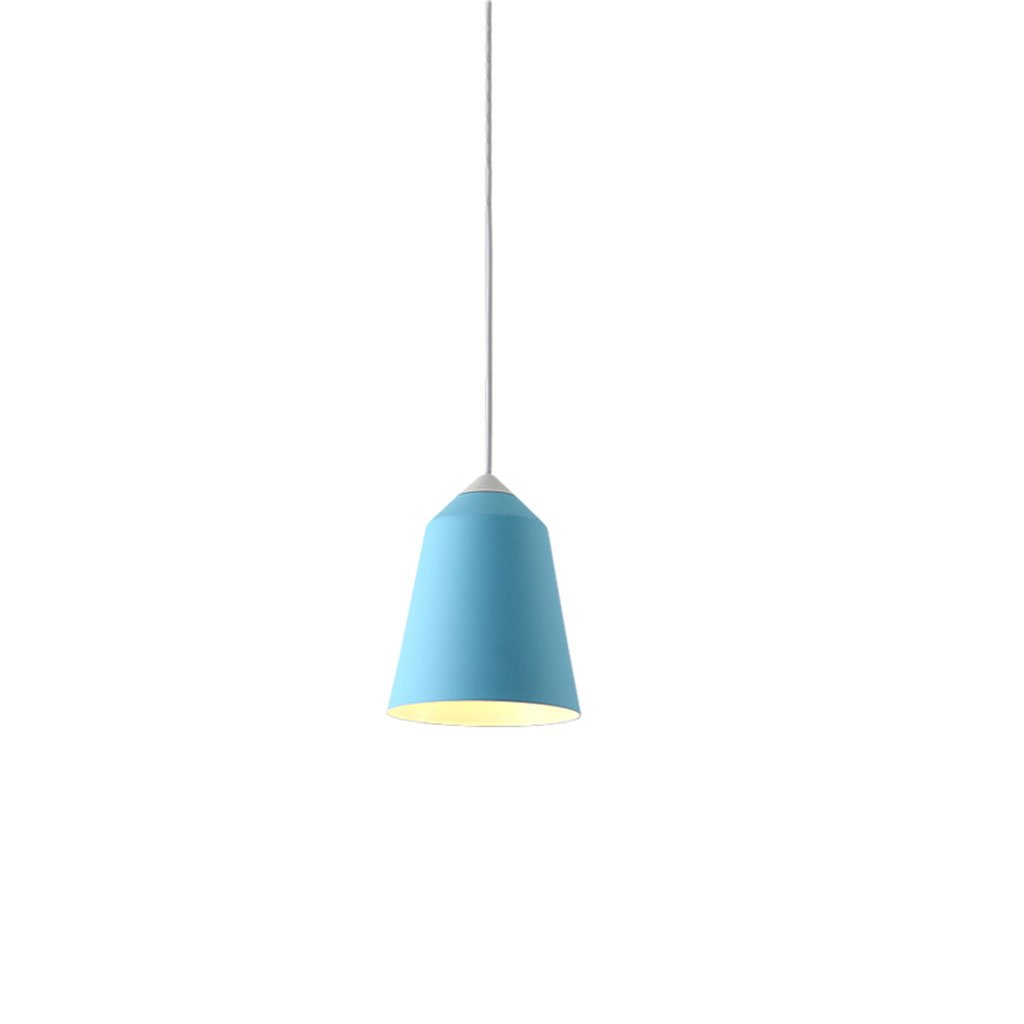 ZYANZ- Continental Simple Modern Living Room Dining Room Bedroom Bedside Lamps Creative Cafe Single Head Chandeliers ( Color : Sky blue )