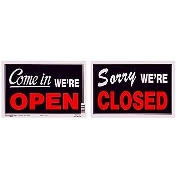 Amazon.com: Sign:, doble cara, abierto/cerrado 8