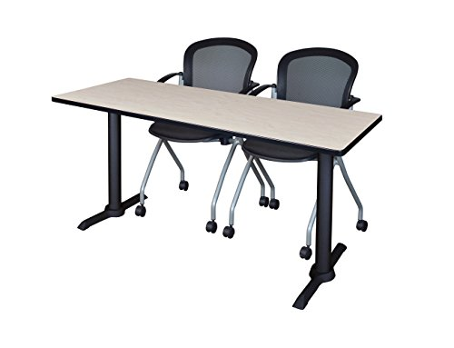 (Regency MTRCT6624PL23BK Cain Training Table and Cadence Chair Set, 66 x 24 inch,)