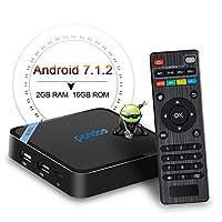 Android TV Box,The Smallest Android 7.1 TV Box Pendoo X8 Mini 2GB 16GB Quad Core 64 Bits 2.4G WiFi H.265 4K Full HD