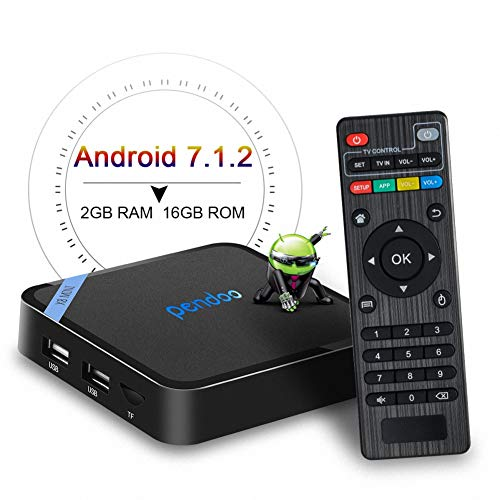 Android TV Box,The Smallest Android 7.1 TV Box Pendoo X8 Mini 2GB 16GB Quad Core 64 Bits 2.4G WiFi H.265 4K Full HD