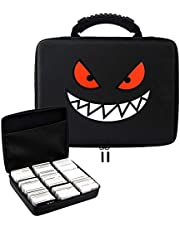 Brappo Travel Hard Case Fits up to 1200+ pcs Pokemon Trading Cards - Card Game Holder Includes Removable Divider