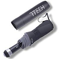 7TECH Flashlight Travel Automatic Open/Close Folding Umbrella UV Small Compact Rain Sun Windproof Umbrella Kids Umbrellas