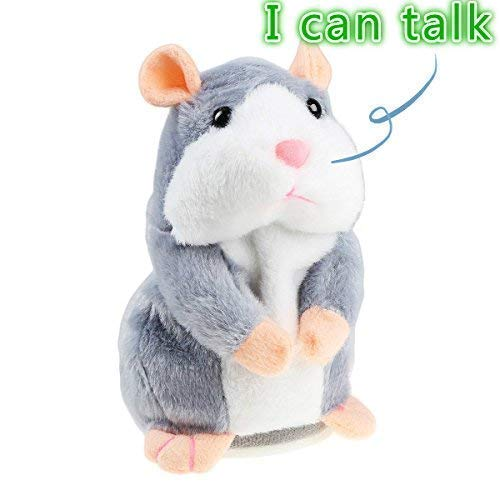 Talking Hamster Plush Toy, Repeat What You Say Funny Kids Stuffed Toys, Talking Record Plush Interactive Toys for, Birthday Gift...