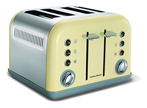 Morphy Richards 242003 Accents Toaster, 1800 Watt, Cream by Morphy Richards