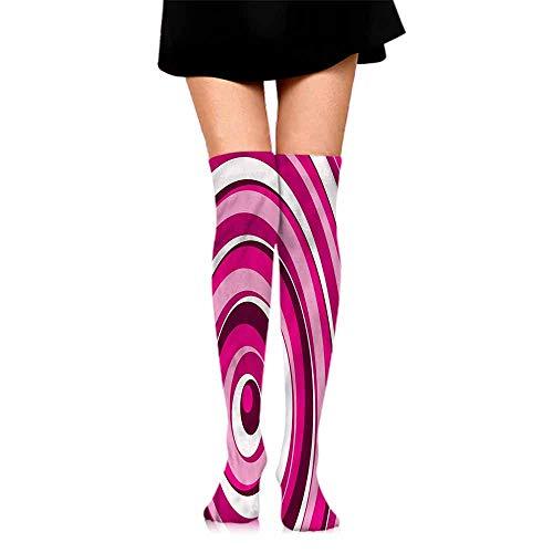 Women Socks Abstract,Vibrant Spiral Circles,socks for flats