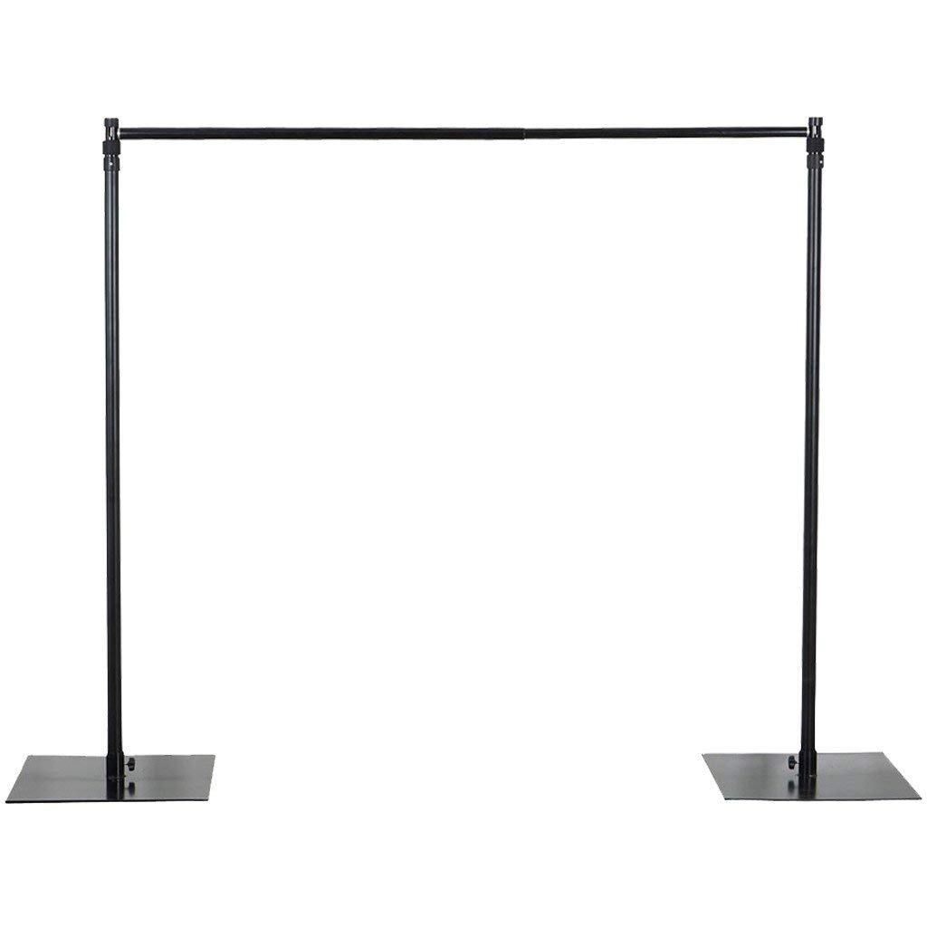 BalsaCircle 10 feet x 10 feet Heavy Duty Backdrop Stand Kit with Steel Base - Wedding Background Support System for Photography by BalsaCircle (Image #1)