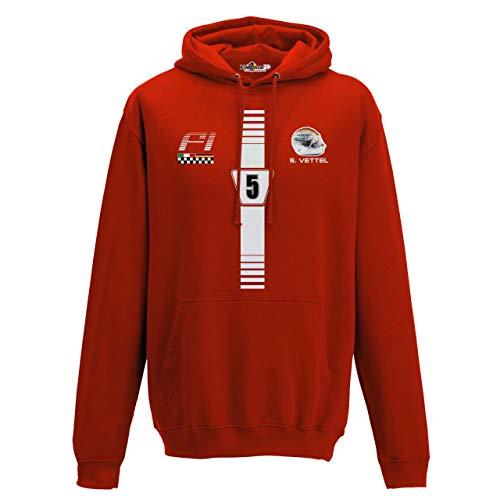 Grand Prix Hooded Sweatshirt - KiarenzaFD Hoodie Motoring Formula Sebastian 5 Vettel Uno 1 Grand Prix red