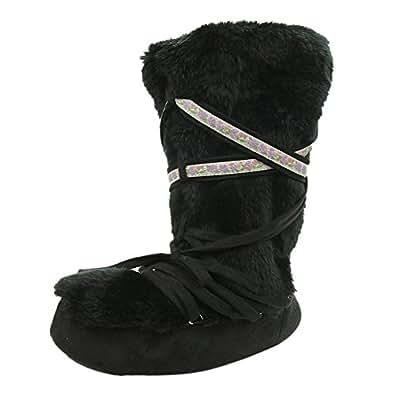 Amazon.com | Home Slipper Women's Winter Warm Faux Fur