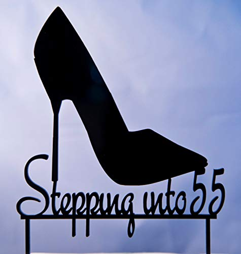- Liz66Ward High Heel Stiletto Shoe Birthday Cake Toppers Personalized, Stepping Into 55 Cake Topper Custom Birthday Cake Topper