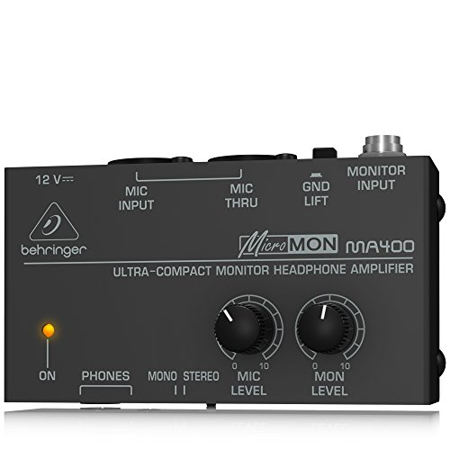 - Behringer MicroMON MA400 Ultra-Compact Monitor Headphone Amplifier