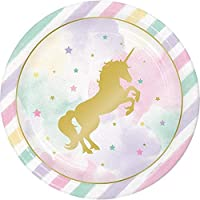 Unicorn Birthday Party Plates - 9 inches / 6 pcs per pack