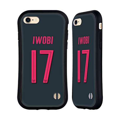 Official Arsenal FC Alex Iwobi 2017/18 Players Third Kit Group 1 Hybrid Case for Apple iPhone 7 / iPhone 8