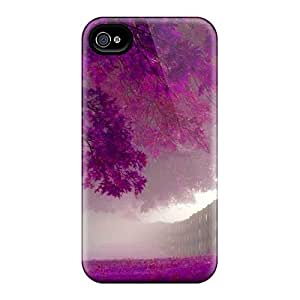 High Quality Purple Trees In Autumn Case For Iphone 4/4s / Perfect Case