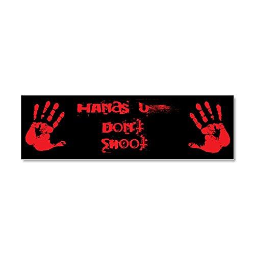 CafePress - Hands up don't shoot. Car Magnet 10 x 3 - Car Magnet 10 x 3, Magnetic Bumper Sticker Hands Magnet