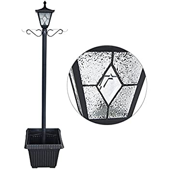 Amazon Com 6 7 Ft 80 In Tall Solar Lamp Post And