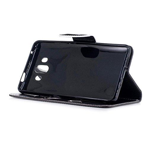 10 de protection conception carte demon avec portefeuille peint pour en avec magnétique Mate d'impression étui cuir Flip PU en fente cas Huawei Hozor support fermeture aérosol 4gxHEngU