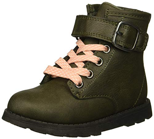 Carter's Girl's Cory2 Olive Combat Boot, 7 M US Toddler