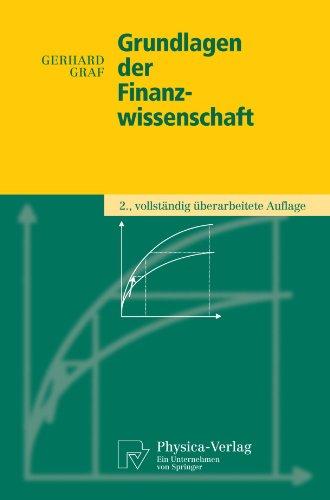 Grundlagen der Finanzwissenschaft (Physica-Lehrbuch) (German Edition)