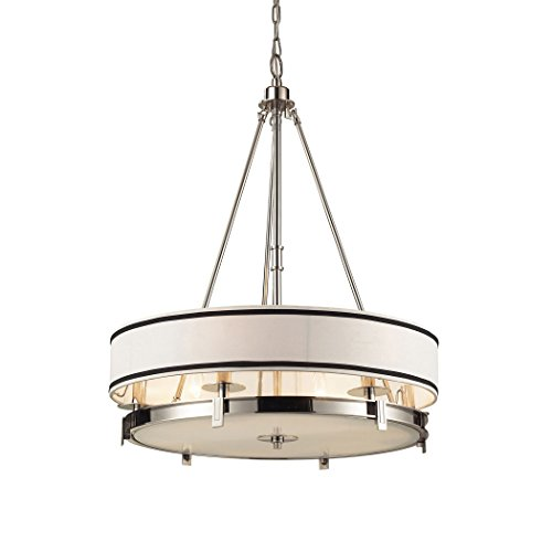 Alumbrada Collection Tribeca 6 Light Pendant In Polished Nickel - Tribeca 6 Light Chandelier