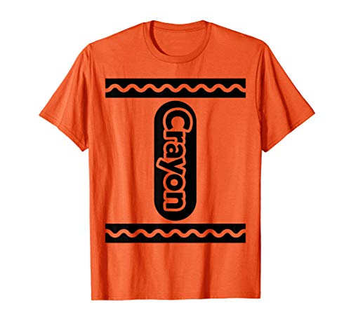 ORANGE CRAYON shirt Crayon Costume Halloween t-shirt