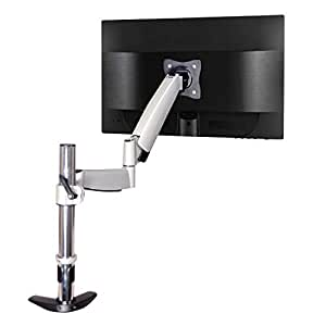 "QualGear QG-DM-01-023 13-27"" Articulating Monitor Desk Mount with Spring Arm"