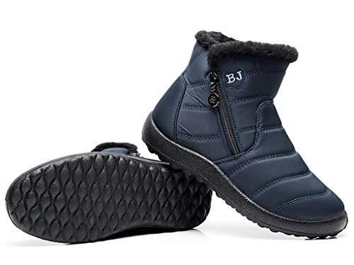 Air Hiver Bottes Doubles Plein De Fourrure Femmes Pour Chaudes Cotouke Bleu Neige Bottines Chaussures Slip Impermables On En E5q7g